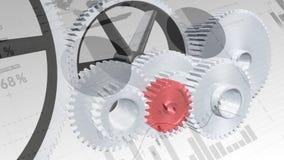 Rodas denteadas e rodas com estatísticas ilustração stock