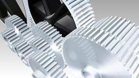 Rodas denteadas e rodas bloqueadas ilustração stock