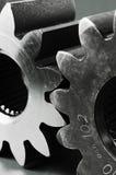 Rodas denteadas em preto e branco Imagens de Stock Royalty Free
