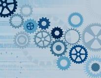 Rodas denteadas/engrenagens azuis Imagem de Stock