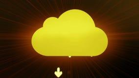Rodas denteadas que formam uma nuvem de computação ilustração stock