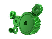Rodas denteadas verdes ilustração do vetor