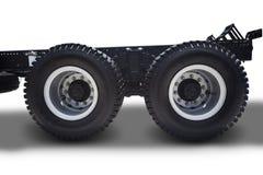 Rodas do caminhão no branco Fotografia de Stock