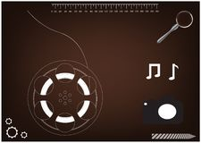 rodas do modelo 3d para um filme ilustração do vetor