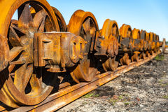 Rodas do trem Foto de Stock
