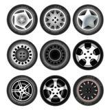 Rodas e pneus do veículo ilustração stock