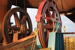 Rodas e tubulação - detalhe Fotografia de Stock