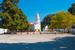 Rodas, Grecia - 11 de agosto de 2018: Monasterio de la Virgen Tsambiki en la isla de Rodas, Grecia fotografía de archivo