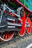 Rodas locomotivas grosseiramente, fragmento Fotos de Stock Royalty Free