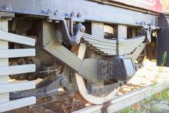 Rodas móveis do bonde retro imagem de stock