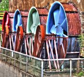 Rodas oxidadas Foto de Stock Royalty Free