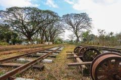 Rodas Railway e velhas Imagem de Stock