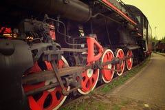 Rodas velhas do trem do vapor fotografia de stock