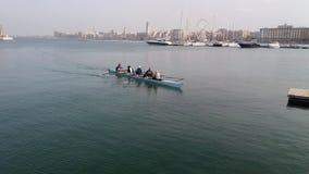 Roddare, medan paddla i havet Royaltyfria Foton
