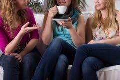 Roddel tijdens koffie royalty-vrije stock afbeeldingen