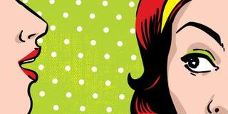 Roddelende vrouwen Stock Afbeeldingen