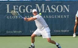 Roddick: Tennis Player Forehand Royalty Free Stock Photography