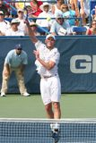 Roddick: Tennis Player Volley Royalty Free Stock Photos