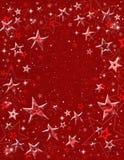 Rode 3-D Sterren Stock Afbeelding