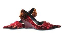 Rode aantrekkingskrachtschoenen royalty-vrije stock afbeelding