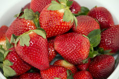 Rode aardbeien Stock Foto's
