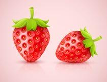 Rode aardbeien Stock Afbeelding