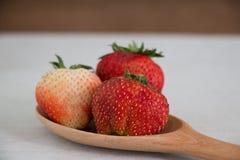 Rode aardbeien, close-up, diepte van gebied Royalty-vrije Stock Fotografie