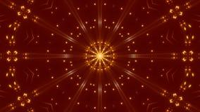 Rode abstracte achtergrond, bewegend gouden licht, lijn stock video