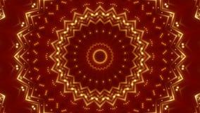 Rode abstracte achtergrond, bewegend gouden licht, lijn stock videobeelden