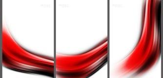 Rode Abstracte achtergrond geavanceerd technische inzameling Royalty-vrije Stock Afbeeldingen