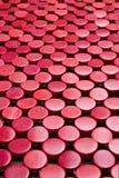 Rode abstracte achtergrond met cirkels Royalty-vrije Stock Foto