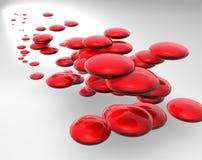 Rode abstracte bellen royalty-vrije illustratie