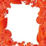Rode abstracte bloemenornamentachtergrond Royalty-vrije Stock Afbeeldingen