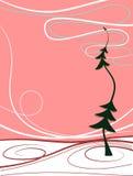 Rode abstracte de winterachtergrond Stock Foto's