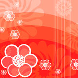 Rode abstracte Floraachtergrond Royalty-vrije Stock Foto