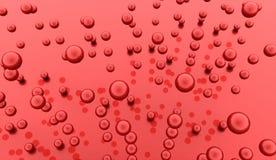 Rode abstracte gebiedenachtergrond Stock Foto