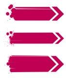 Rode abstracte geplaatste pijlen grunge Stock Fotografie