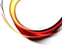 Rode abstracte golven op witte achtergrond Royalty-vrije Stock Afbeelding