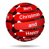 Rode abstracte Kerstmisbal vector illustratie
