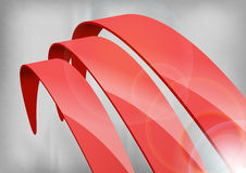 Rode Abstracte Krommen Stock Afbeelding