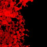 Rode abstracte moleculedna Royalty-vrije Stock Afbeeldingen