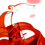Rode abstracte samenstelling Stock Foto