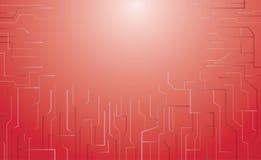 Rode abstracte technologie vectorachtergrond Stock Afbeelding