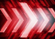 Rode abstracte technologiepijlen royalty-vrije illustratie
