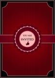 Rode abstracte uitnodiging Royalty-vrije Stock Afbeelding