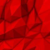 Rode abstracte veelhoekige achtergrond Stock Foto