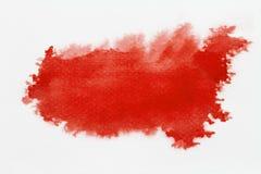 Rode abstracte waterverfachtergrond Royalty-vrije Stock Afbeelding