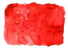 Rode abstracte waterverfachtergrond voor texturen achtergrond en van Webbanners ontwerp vector illustratie