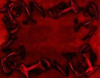 Rode achtergrond, liefde stock illustratie
