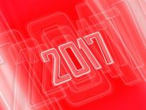 Rode achtergrond met 2017 Stock Fotografie